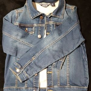 Lands ends Jean jacket girls size small 8